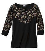 Блуза с Цветочным Принтом preview2