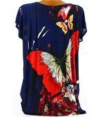 Tee shirt  drapée thania papillon bleu marine preview4
