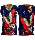 Tee shirt  drapée thania papillon bleu marine preview5