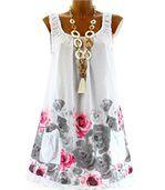Robe  coton - rosanna -  fleurs blanc preview4