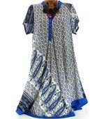 Robe asymétrique bleu royal CORALIE preview2