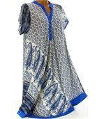 Robe asymétrique bleu royal CORALIE preview5