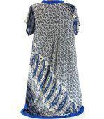 Robe asymétrique bleu royal CORALIE preview4