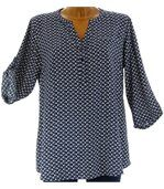 Chemise grande taille marine FARFALE preview5