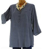 Chemise grande taille marine FARFALE preview2