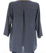 Chemise grande taille marine FARFALE preview4
