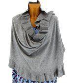 étole châle laine volants gris CESARE preview5