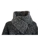 Manteau laine bouillie Noir VIOLETTA preview5
