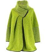 Manteau laine bouillie vert VIOLETTA preview1