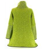 Manteau laine bouillie vert VIOLETTA preview4