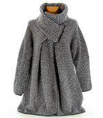 Manteau laine bouillie gris VIOLETTA preview2