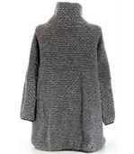 Manteau laine bouillie gris VIOLETTA preview5