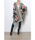 Gilet long poncho laine gris ARTEMIS preview4