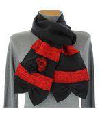 écharpe longue laine bouillie noir  ALBERT preview2