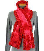 écharpe longue laine bouillie rouge  ANATOLE preview2