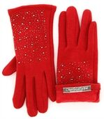 Gants femme hiver polaire rouge BASILE preview1