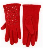 Gants femme hiver polaire rouge BASILE preview2