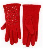 Gants femme hiver polaire rouge BASILE preview2