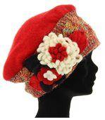 Bonnet femme hiver laine MATHIEU rouge preview2
