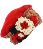 Bonnet femme hiver laine MATHIEU rouge preview1