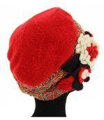Bonnet femme hiver laine MATHIEU rouge preview4