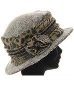 chapeau cloche laine bouillie BASTIEN gris preview5