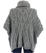 Pull poncho mohair hiver SORENZA gris preview5