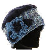 Bonnet femme hiver laine MATHIEU bleu preview4