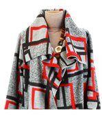 Manteau laine hiver grande taille JULIO gris preview4