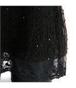 Tunique ample dentelle bohème - margo - noir preview4