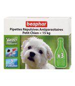 Pipettes répulsives antiparasitaires petit chien (Lot de 3) preview1