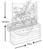 Bac à fleurs 110 litres Lign Z avec treillis preview2