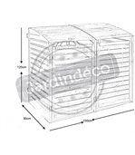 Cache-poubelles 1366 Litres à adosser 150x90x125cm preview2