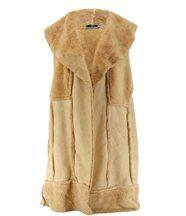 Manteau imitation fourrure ANGELICA beige