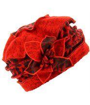 Bonnet femme hiver laine ARNOLD rouge