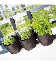 Triple jardinière suspendue en PVC pour balcon