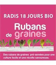 Ruban de graines de radis de 18 jours bio