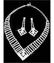 Parure Femme Argenté et 350 Diamants Cz DAPHNEE 102