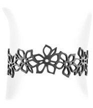 Bracelet femme silicone noir fleur de tiaré lady gum 1241
