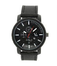 Montre Fashion Homme Cuir Noir V6 105