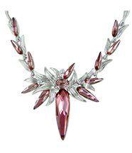 Pendentif femme chic argenté cristaux swarovski elements fleur 632