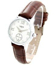 Montre Femme Diamants Cz Cuir Marron WAVE 1289