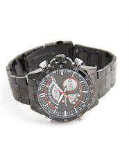 Montre homme bracelet tendance acier noir naviforce 1365