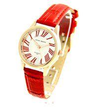 Montre Femme pas chère Bracelet en Cuir Rouge JASMIN 2920