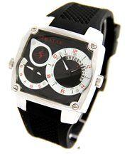 Montre pour homme dble-cadran bracelet silicone noir speatak 2128