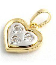 Pendentif doré femme coeur daphnee et cie 358