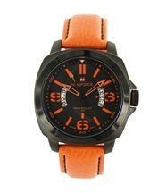 Montre fashion homme cuir orange naviforce 1284