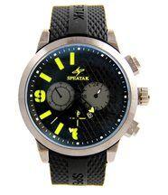 Montre homme style bracelet silicone noir speatak 2825