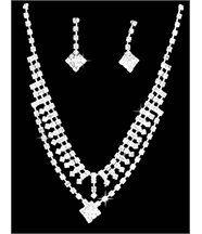 Parure femme argenté avec 50 diamants cz daphnee 183