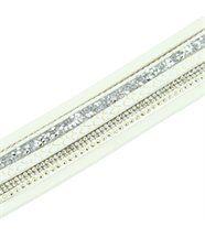 Très Beau Bracelet Femme Cuir Blanc Incrusté DAPHNEE 1146